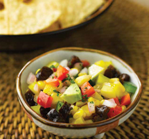 Mexican Healthy Salsa serves with Corn Chip